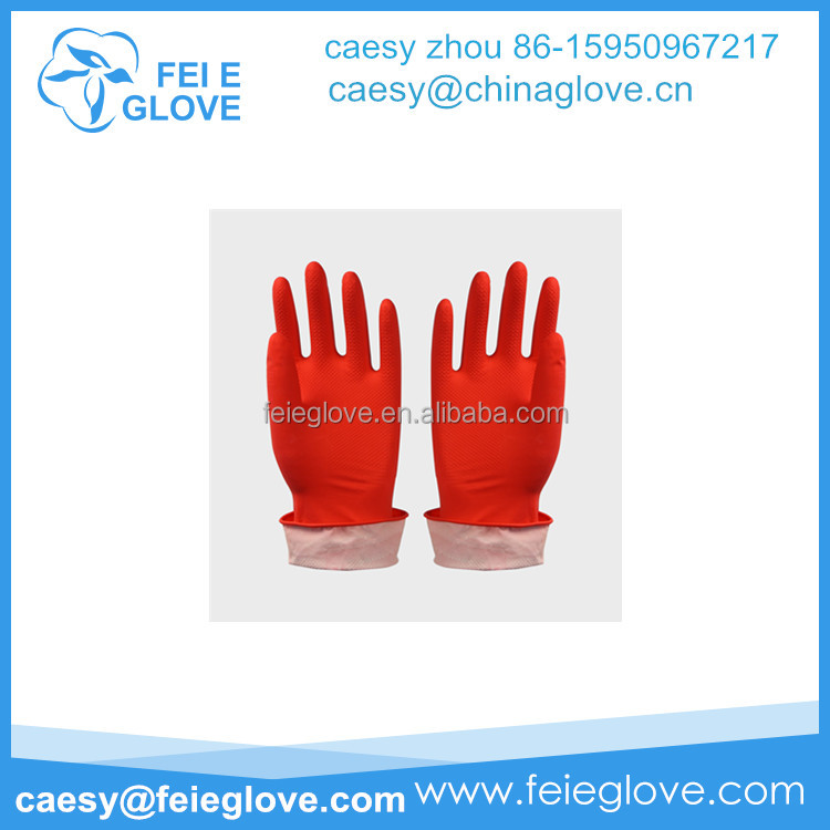 50g red colour popular Turkey Supply Working Household Latex Glove Low Price Sell Latex Household Glove Factory