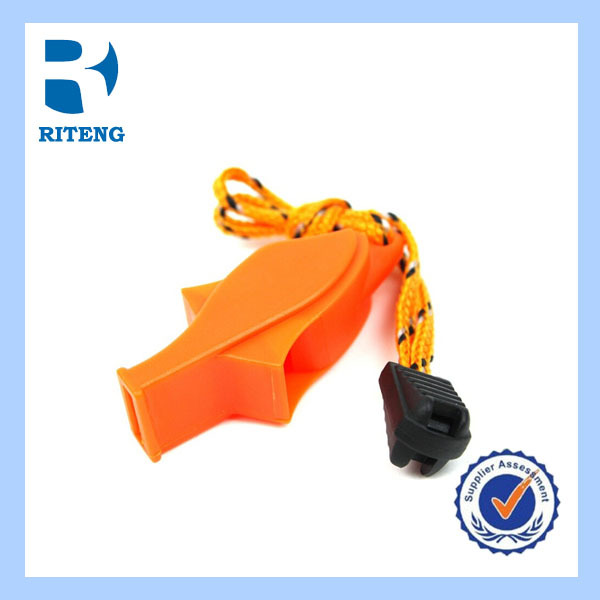 Outdoor Whistle, Orange Plastic Emergency Whistle Lanyard Wholesale Survival Whistles