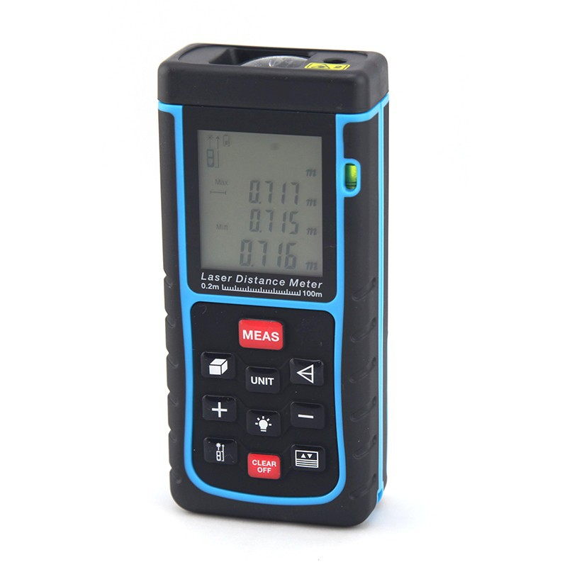 digital 100 meter laser distance area volume pythagorean electronic distance measurement instrument