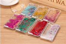 Colorful Moving Stars Quicksand 3D Bling mobile Phone Case Cover For iphone 6 for samsung galaxy s6 edge