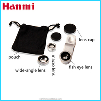 3 in 1 cell phone camera lens for galaxy note 2, fish eye lens