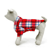 Wholesale cheap dog grid shirts grid stripe shirt for dog