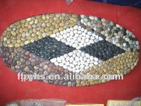 mixed Pebble Mat for foot massage
