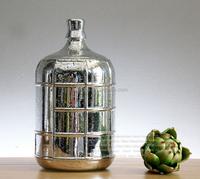silver electroplating home decoration glass vase