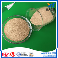 Low dust level insulating Glass molecular sieve 3A beads 1.5-2.0mm with long life expectancy