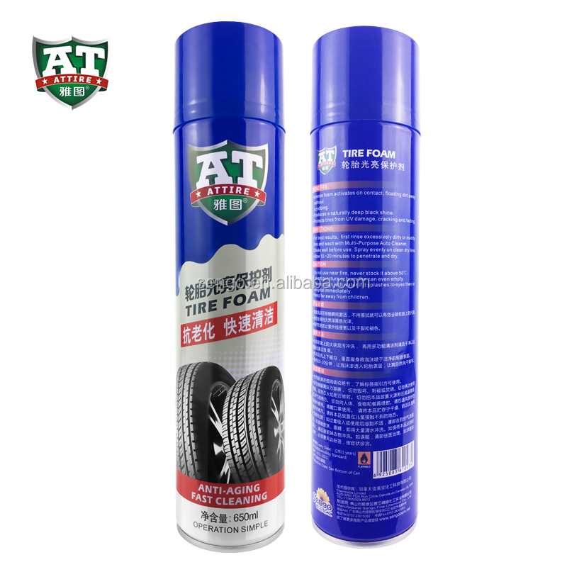 Easy one-step Tire Shinning Spray