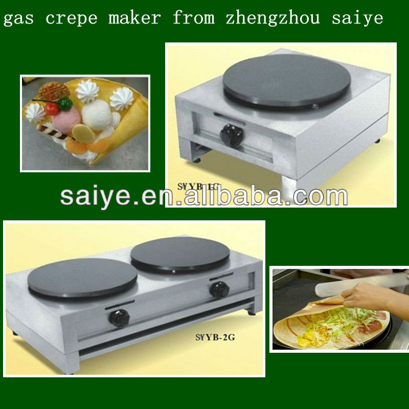 high quality one head gas crepe making machine