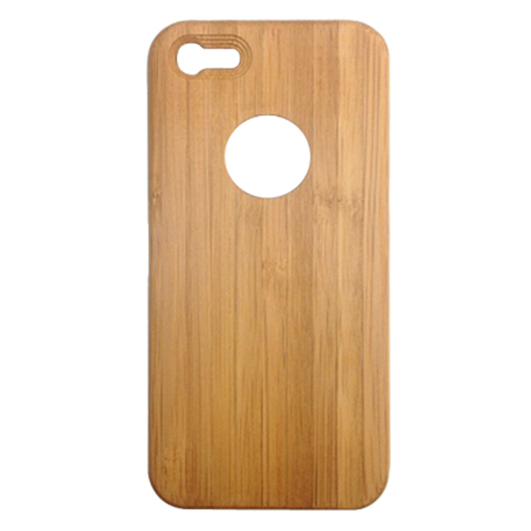 OEM carbonized bamboo phone shell,single bottom with buttons cell phone case for iPhone5 5C