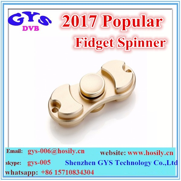 Fancy design hand finger fidget spinners with brass alumium coper hybrid