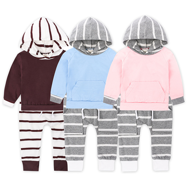 Importing Wholesale Active Newborn Toddler Baby Clothes Clothing Cotton Pocket Set From China