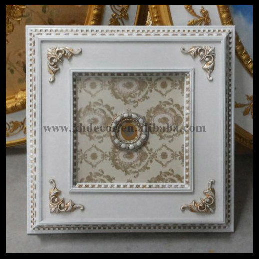 Luxury square ceiling medallion different types decorative ceiling plates