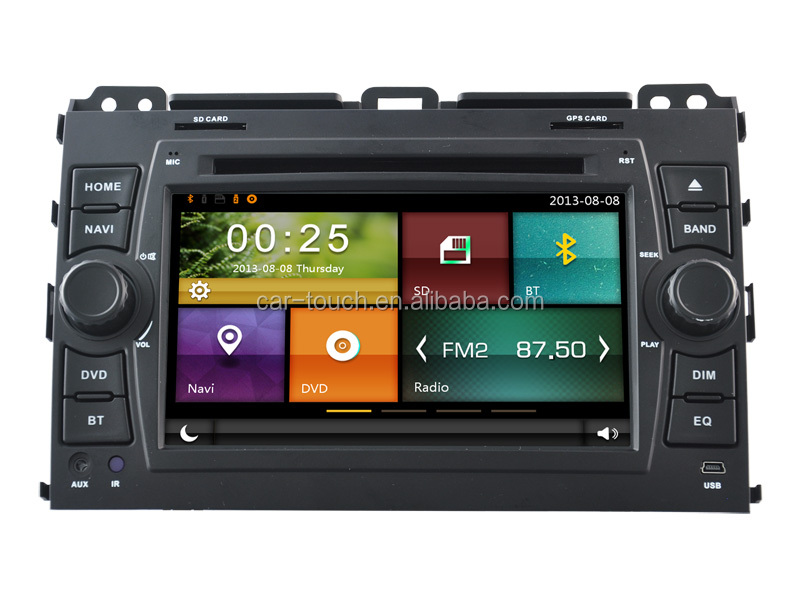Car DVD wholesale for TOYOTA PRADO 2008 with GPS/BT/RDS/DVD/iPOD/External Sanyo 6 Cdc Box/Rearview