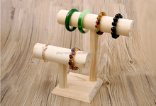 Modern wooden bracelets display rack/ jewelry display rack