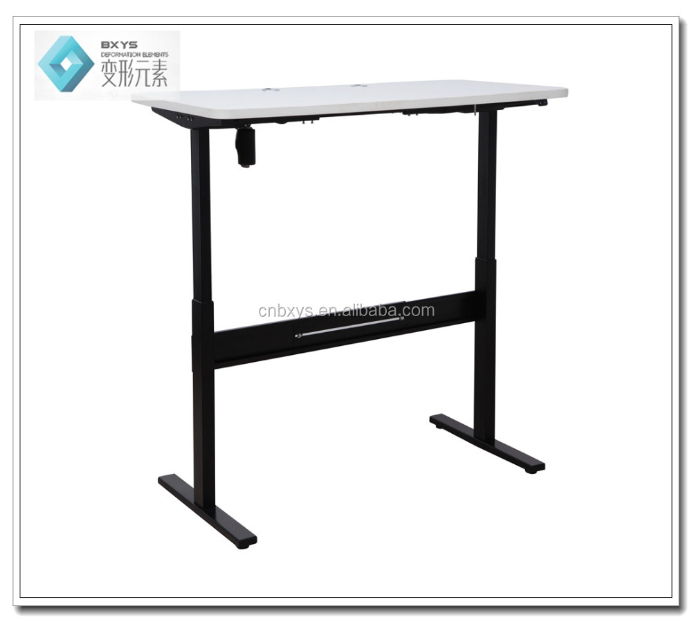 2016 height adjustable computer desk electric with single motor control