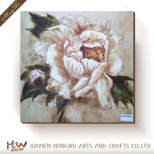 Modern Wall Decor Art Picture White Peony Flower Canvas Print Landscape Floral Oil Painting for Living Room No Frame