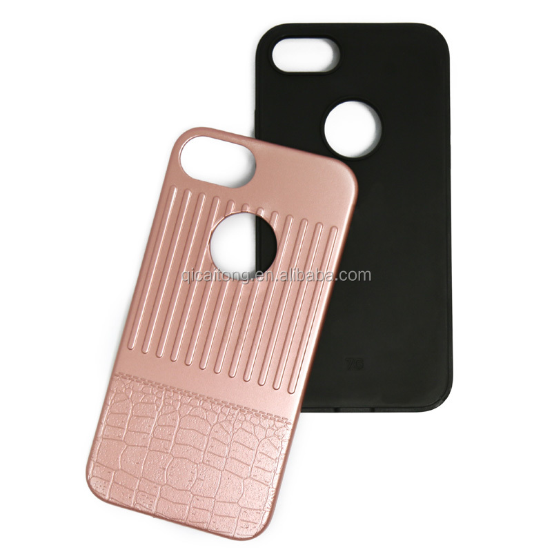 2017 trending products tpu silicon black back pc phone case for 6G 6S