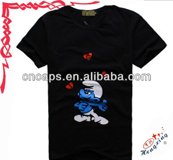 2013 hot sale beautiful logo custom women's funny t-shirts