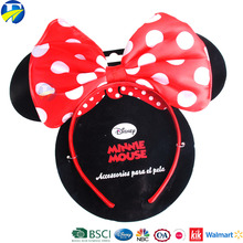 Lovely white dot Mickey hair band with bow ear/baby accessories