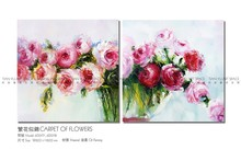 Unique design flower canvas oil paintings art frame picture