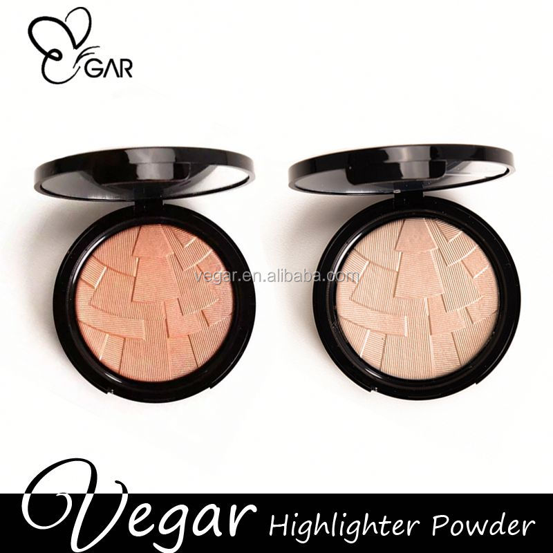compact pressed powder foundation 2016 Hot repair skin Professional glitter powder highlight powder