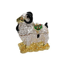 Goat figure trinket box goat for holidays gifts