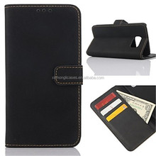 Smooth PU Leather Flip Cover and Wallet Case for Samsung Galaxy S6