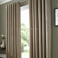 Blackout Design Stripe Grommet Top window Curtain For Living Room