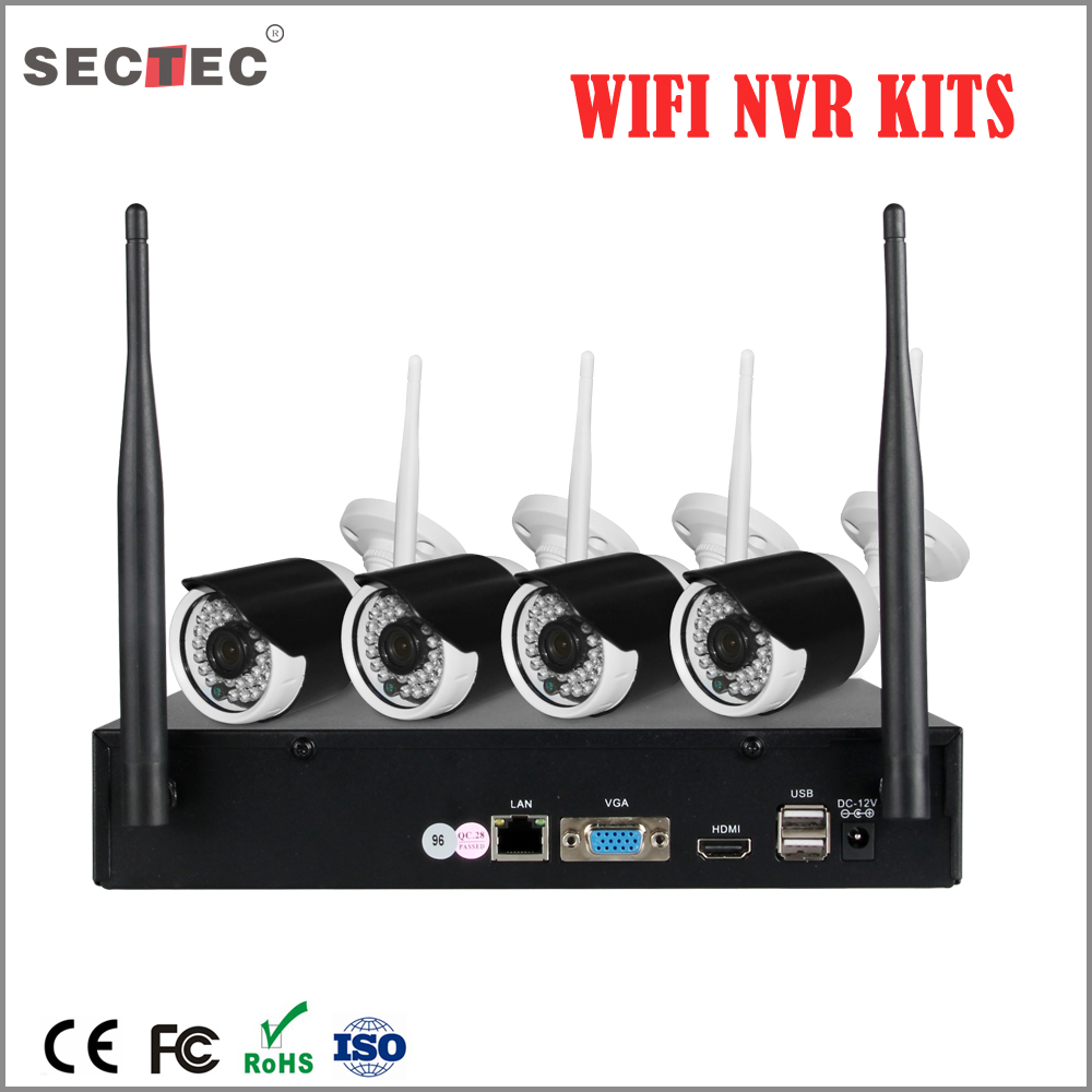 4 Cameras Video Surveillance Wifi NVR Kit 4CH HD CCTV Camera System Wireless camera system