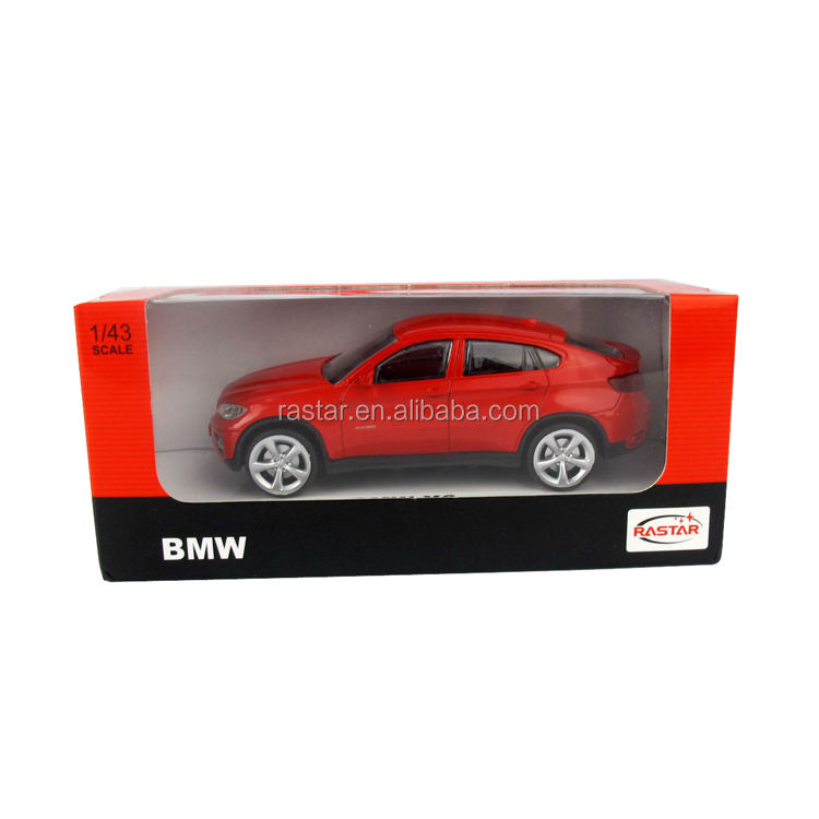 BMW X6 red white colors RASTAR small die cast metal toy cars model