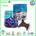 Happy flute baby washable AIO diaper cloth reusable diapers manufacture custom print