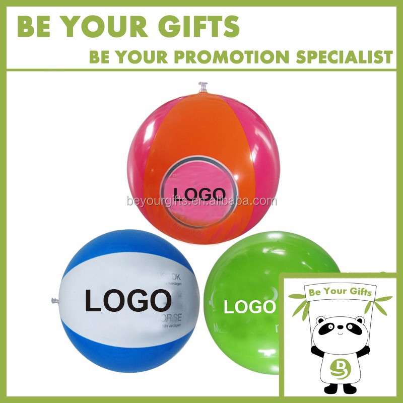 Promotional Custom PVC Inflatable beach ball with logo printing