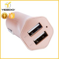 Quick charging double usb port charger adapter for mobile phones