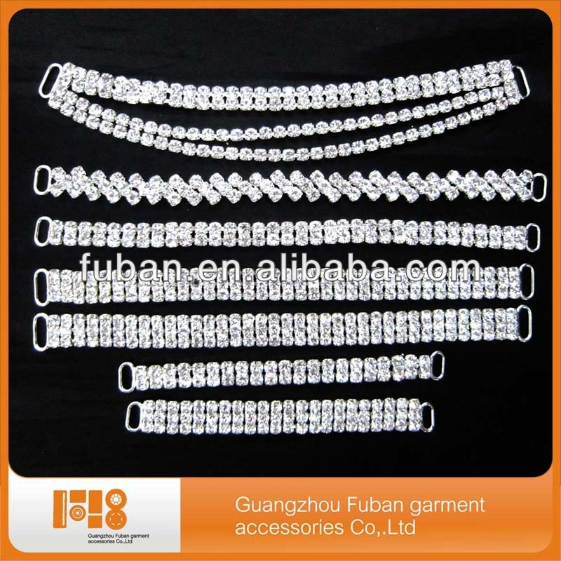 2017 New High Quality Crystal Glass Rhinestone Bikini Connectors top connector