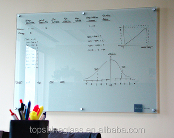 tempered magnetic glass whiteboard with magnets with EN12150