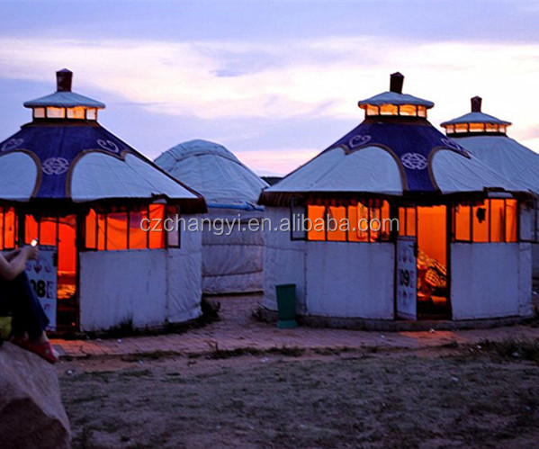 Waterproof Big Mongolian yurt For Family/Home Living