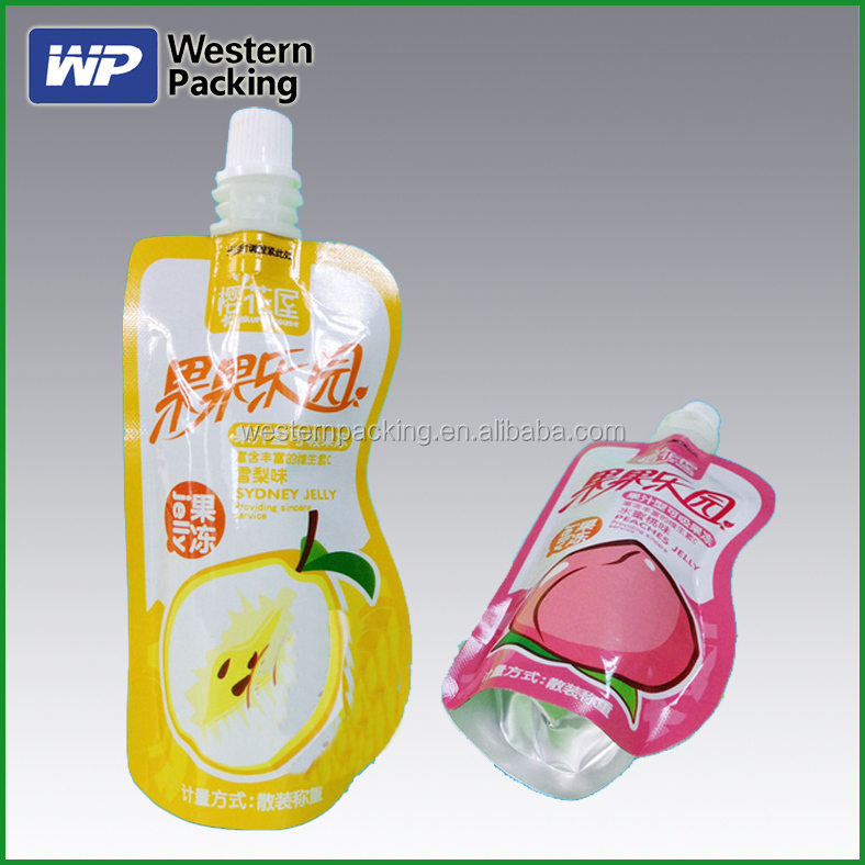 Plastic Drinking Water Bag with spout