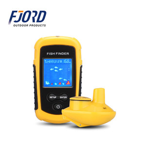 FJORD High quality LCD fish finders alarm100M portable sonar echo sounder fishing finder