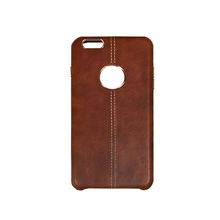 NEW Electroplate leather Back Cover case for iPhone 6 Plus /Luxury business style leather hard phone case for iPhone 6 Plus