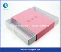 pink paper cigarette box with drawer