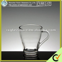 Shenzhen glass cup for tea with factory promotional price