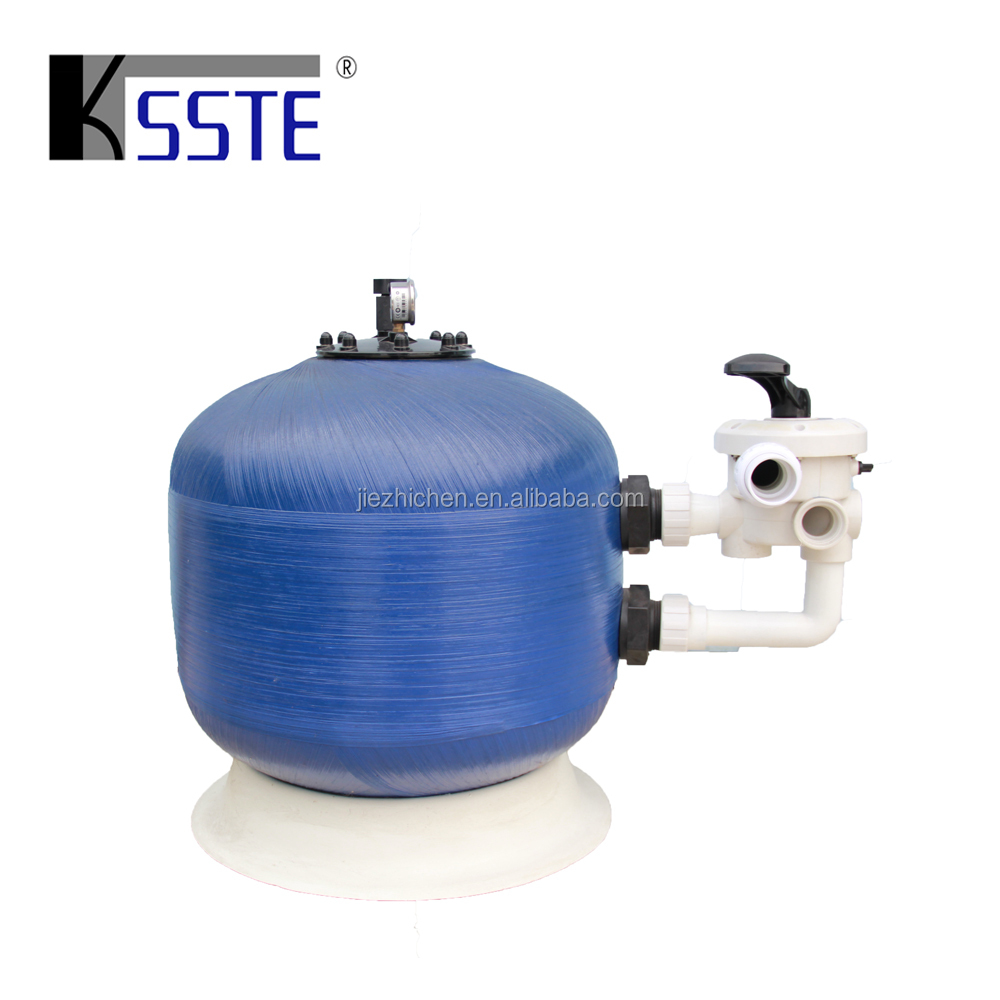 Low price swimming pools china supplier blue 700mm sand bead bio filters for pond