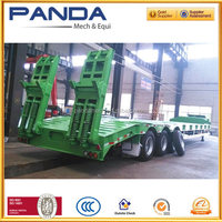 China Steel material tri-axle 50 tons swivel wheel trailer