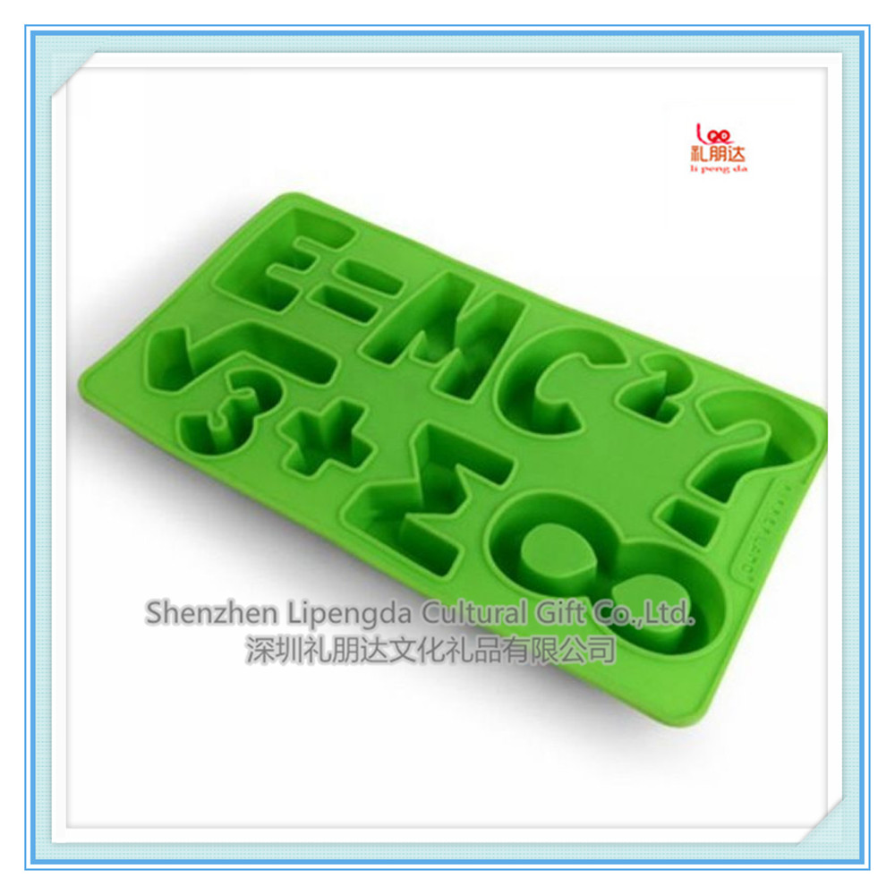 cartoon shaped numbers shape silicone molds for chocolate , candy