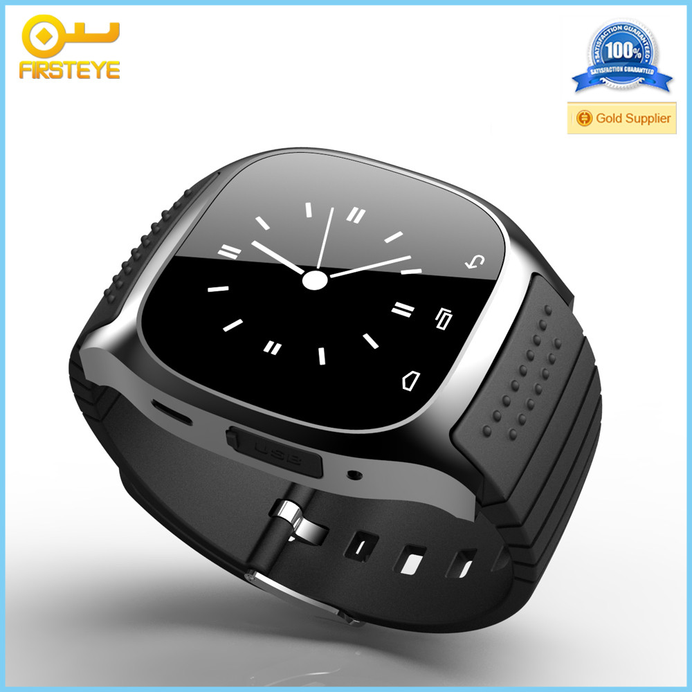 2016 Cheap price low cost bluetooth smart watch mobile phone m26