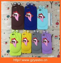 Cartoon animal silicone case cover for iphone 4 5 6 6+ cell phone silicon case