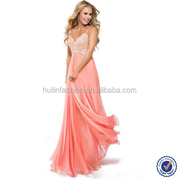 2015 Womens Wholesale Chiffon Long Casual Prom Dress