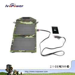 IVOPOWER portable soalr charger, high efficiency solar power battery charger case, creative folding solar