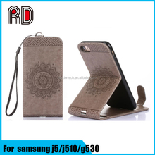 Sunflower embossing flip stand leather case cover for samsung galaxy s7 s7edge s6 s6 edge j5 j510 G530