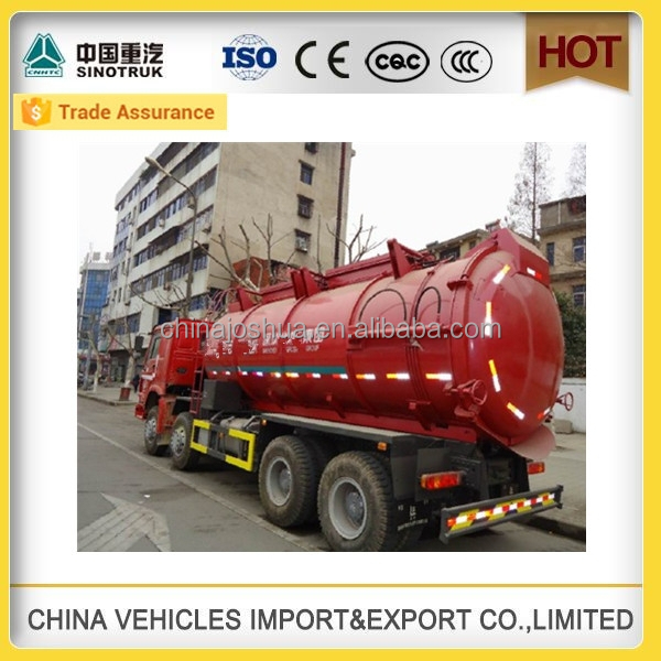 cheap price high quality sinotruk howo Transportation sewage suction 4x4 septic tank china truck