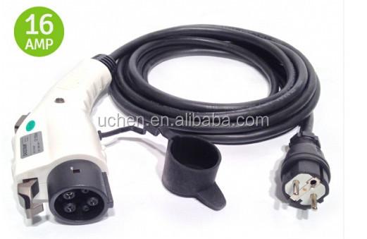 Sae J1772 Ev Charger Plug To Yga 16a Dostar Type 1